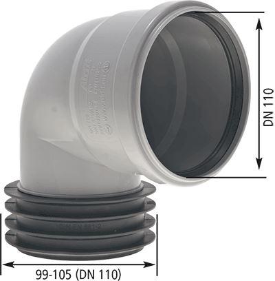Nástrčné koleno 87°   110 x 110  ( do kameniny - vn. 99-105mm)