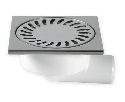 Vpusť podlahová boční bílá  15x15 DN 50/95   NEREZ