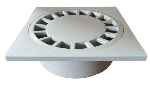 Vpusť podlahová přímá šedá  30x30 DN 110/100 plast