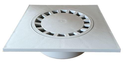 Vpusť podlahová přímá šedá  25x25 DN 110