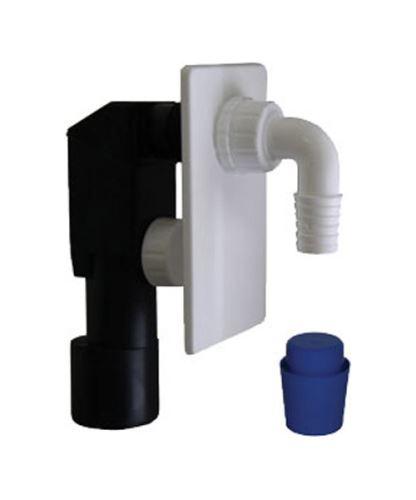 Sifon pračkový podomítkový, plastový DN 40/50