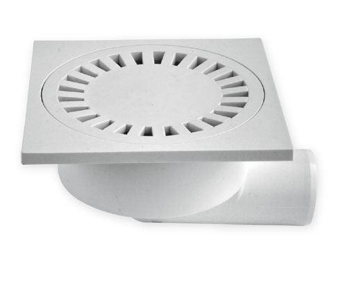 Vpusť podlahová boční bílá   15x15 DN 50/95   plas