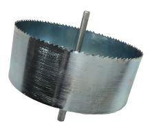Vykružovací vrták na šroubovací odbočku DN200  včetně vodící osy (stříbrný)