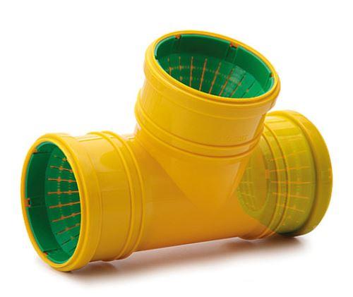 Univerzální drenážní  odbočka   DN 65-100-87°  - žlutá barva