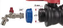 Set pro výstup z nádrže se šroubením o průměru 59mm