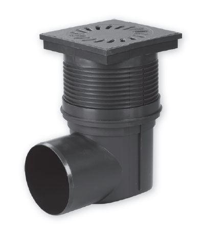 Kanalizační vpusť - boční  D110, suchá -  LITINA , 15x15