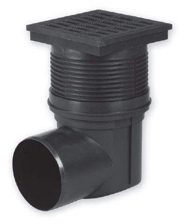 Kanalizační vpusť - boční D110, suchá  - plast 15x15