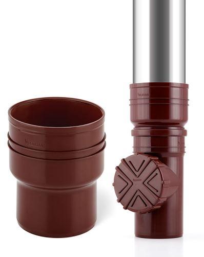 Okapová redukce   kov/KG   DN 124kov - 110 KG  - hnědá