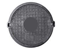 Poklop kompozitní  B125, SMC, uazmykatelný  kulatý , DN600 , venek 830mm, h=80mm