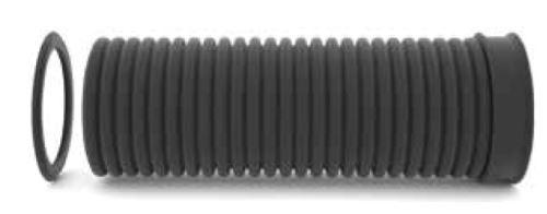 Korugovaná trouba Ecopal PE SN8  DN   400 x 6000 mm (400/344) vč hrdla a těsnění